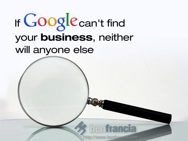 google cant find you