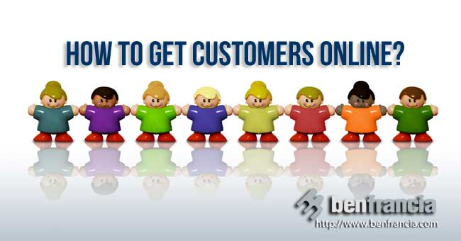 how to get customers online