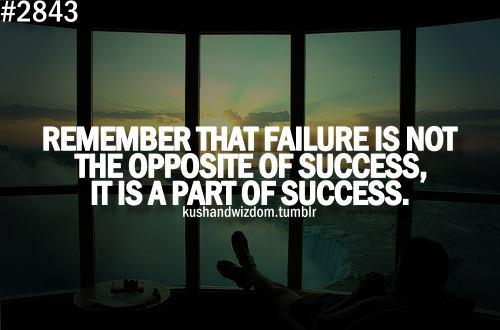 Inspirational Quotes About Failure: Failure Is Part Of Success