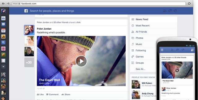 facebook redesigned news feeds