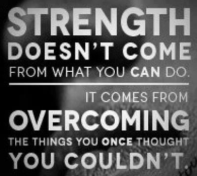 Strength Comes From Overcoming Challenges Ben Francia Simple Quotes About Challenges