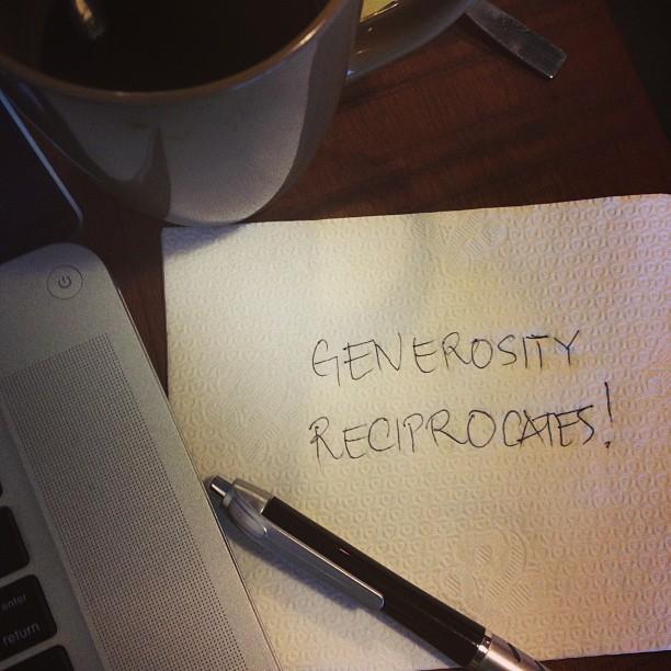 Generosity Reciprocates